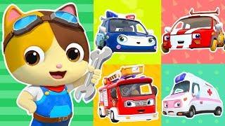 Download Five Little Cars Got Hurt | Doctor Cartoon, Fire Truck | Kids Songs | Kids Cartoon | BabyBus Video