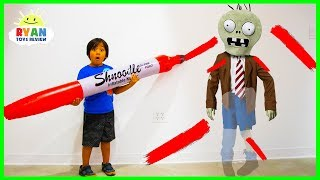 Download Ryan Pretend Play Doddle Hide and Seek with Plants vs Zombies, Dinosaurs and Incredibles 2!!! Video