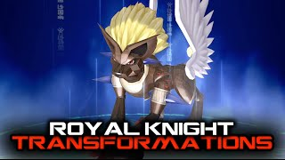 Download Digimon Story Cyber Sleuth - All Royal Knight Transformations Video