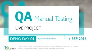 Download # QA Manual Testing Live Project Demo 01 for beginners Video