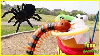 Download Bugs Hunting Giant Bugs at outdoor playground for kids! Video