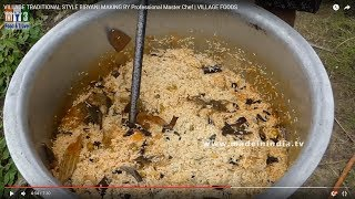 Download VILLAGE TRADITIONAL STYLE BIRYANI MAKING BY Professional Master Chef | VILLAGE FOODS Video