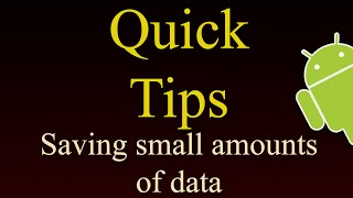 Download Saving Small Amounts Of Data Video