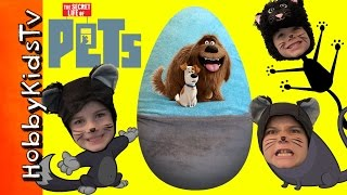 Download Giant PETS Surprise Egg with Toys From The Movie by HobbyKidsTV Video