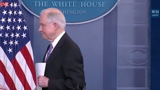 Download WATCH: Jeff Sessions Takes Reporter Questions on Immigration Law Risk at Sean Spicer Press Briefing Video