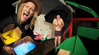 Download 1000 Glow Sticks in a Wood Chipper VS Umbrella Man! Video