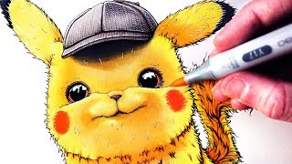 Download Let's Draw DETECTIVE PIKACHU - POKÉMON FAN ART Video