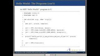 Download Introduction to MPI - Part I Video