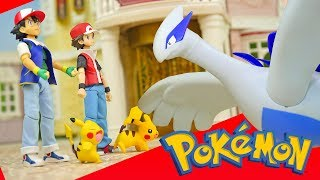 Download Pokemon Ash and Red vs Lugia - Re-Ment Miniature Toys Video