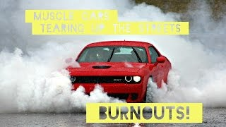 Download Muscle Cars tearing up the STREETS!! (Burnouts) (Pure v8 Sound) Video