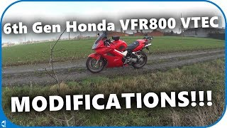 Download 6th gen Honda VFR800 VTEC - My Bike Modifications! Video