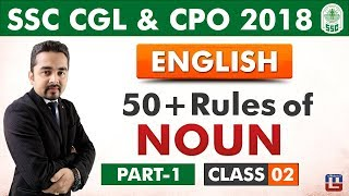 Download 50 + Rules of Noun   Part 1   Class 2   English   SSC CGL   CPO 2018 Video
