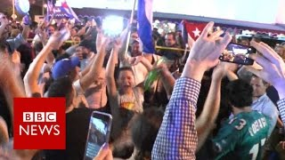 Download Little Havana celebrates Fidel's death - BBC News Video