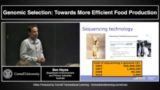 Download Ben Hayes - ″Genomic Selection:Towards More Efficient Food Production″ Video