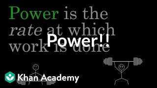 Download Power | Work and energy | Physics | Khan Academy Video