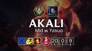 Download Akali Mid vs Yasuo - EUW Challenger Patch 8.16 Video