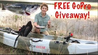 Download Kayak Perch Fishing - Catch n Cook! - GoPro Giveaway !! Video