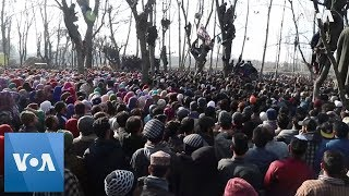 Download Funeral of Kashmir separatists killed in gun battle Video