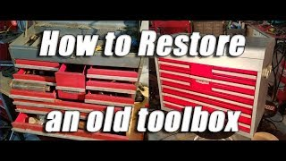 Download How to restore an old vintage craftsman tool box: Part 2 - All done Video