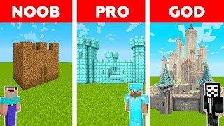 Download Minecraft - NOOB vs PRO vs HACKER: SAFEST CASTLE BASE CHALLENGE in Minecraft / Animation Video