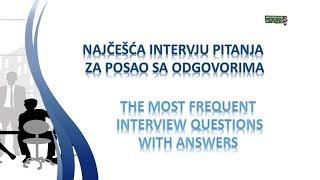 Download Najčešća intervju pitanja za posao sa odgovorima na engleskom jeziku Video
