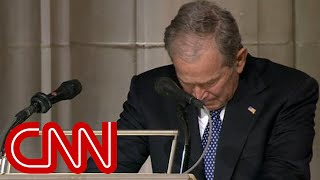 Download George W. Bush cries delivering eulogy for his father, George H.W. Bush (Full Eulogy) Video