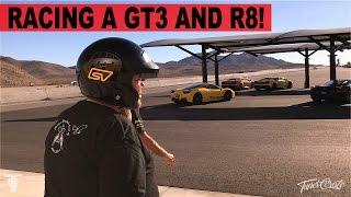 Download Racing a Porsche GT3, R8 and Drifting a Mustang Video