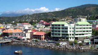 Download Overlooking Roseau, Dominica - Caribbean island paradise Video