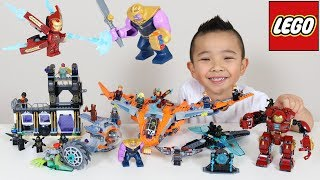 Download 5 LEGO Avengers Infinity War Sets Thanos Battle For Infinity Gems Ckn Toys Video