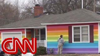 Download Rainbow house gets revenge on neighbors Video