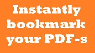 Download How to instantly bookmark your PDF-s with Adobe Acrobat Reader DC Video