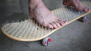 Download BED OF NAILS SKATEBOARD *BLOOD ALERT!* | YOU MAKE IT WE SKATE IT EP 73 Video