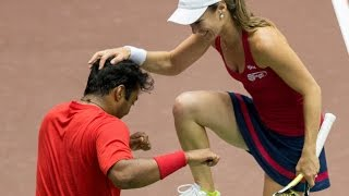 Download Leander Paes & Martina Hingis 7/14/14 Mixed Doubles Highlights Video