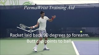 Download Forehand practice with the PermaWrist tennis swing training aid Video