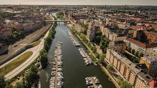 Download Kungsholms strand Stockholm epic drone flight in 4K Video