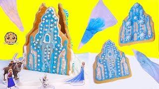 Download Disney Frozen Queen Elsa Cookie Ice Castle House - Food Craft Kit Video Video