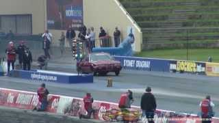 Download 7 SEC V8 TURBO VL CALAIS CRASH AT SYDNEY DRAGWAY 13.7.2013 Video