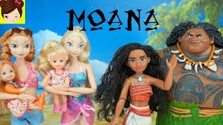 Download Elsa y Anna Conocen a MOANA - La Bebe de Anna Casi se Ahoga - Pelicula Moana Video
