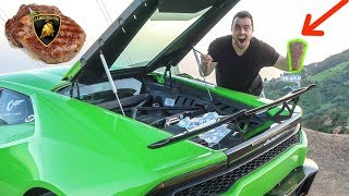 Download I COOKED A STEAK WITH MY LAMBORGHINI AND IT ACTUALLY WORKED! Video