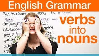 Download How to change a verb into a noun! Video