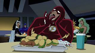 Download Flash has dinner with Wonder Woman and Hawkgirl Video
