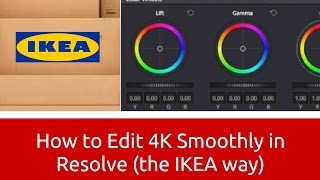 Download How to Edit 4K Smoothly in Resolve (the IKEA way) Video