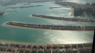 Download Helicopter flight over Palm Island and Dubai Marina Video