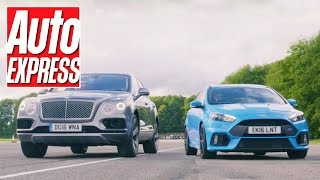 Download Ford Focus RS vs Bentley Bentayga: a true David vs Goliath drag race Video