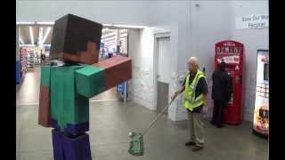 Download Real Life Minecraft Steve Visits Walmart Video