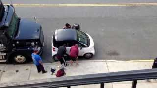Download 5 Guys illegally lift a smart car! Video