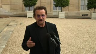Download U2 frontman Bono meets French President for ″ONE″ NGO Video