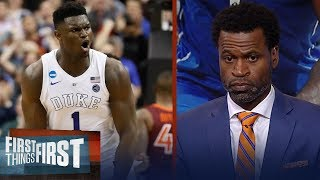 Download Zion declares for the NBA draft, Stephen Jackson reacts | CBB | FIRST THINGS FIRST Video