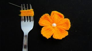 Download Hand Embroidery Amazing Trick# Easy Flower Embroidery Trick# Sewing Hack Video