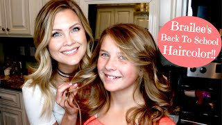 Download Natural Ombre Haircolor!! Brailee's Back To School Haircolor!! Video